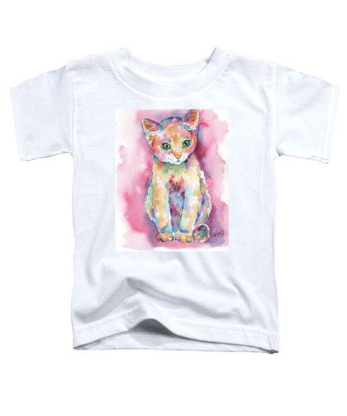 Colorful Kitten Toddler T-Shirt
