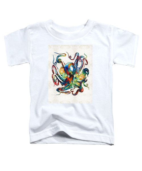 Colorful Octopus Art By Sharon Cummings Toddler T-Shirt