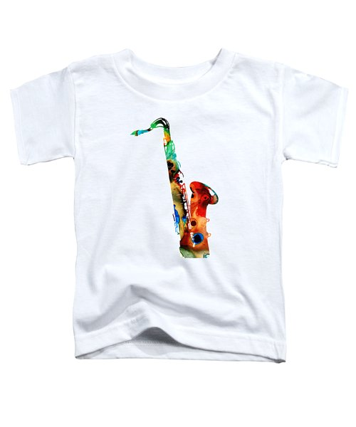 Colorful Saxophone By Sharon Cummings Toddler T-Shirt