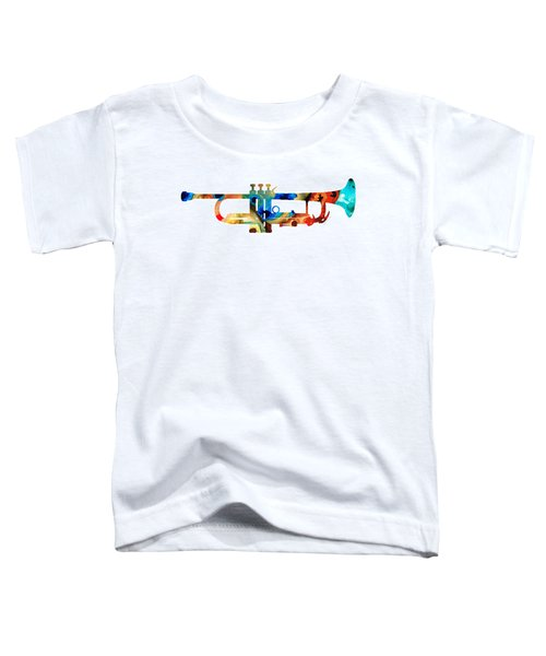 Colorful Trumpet Art By Sharon Cummings Toddler T-Shirt