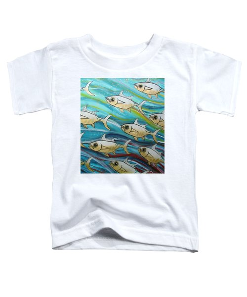 Coloured Water Fish Toddler T-Shirt