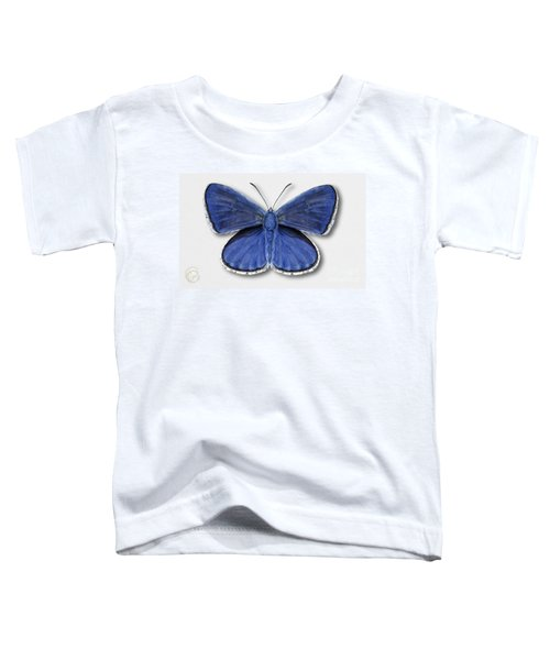 Common Blue Butterfly - Polyommatus Icarus Butterfly Naturalistic Painting - Nettersheim Eifel Toddler T-Shirt