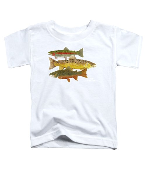 Common Trout  Rainbow Brown And Brook Toddler T-Shirt