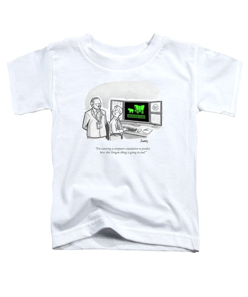Computer Simulation To Predict How This Oregon Toddler T-Shirt