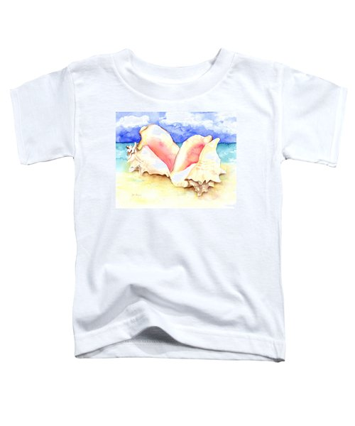Conch Shells On Beach Toddler T-Shirt
