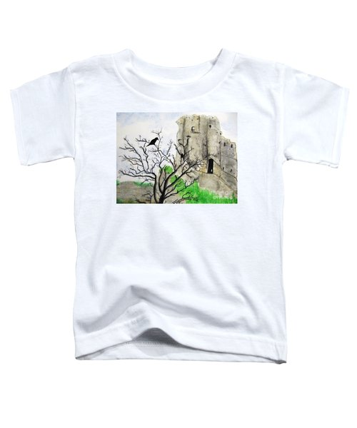 Corfe Castle And Crow Toddler T-Shirt