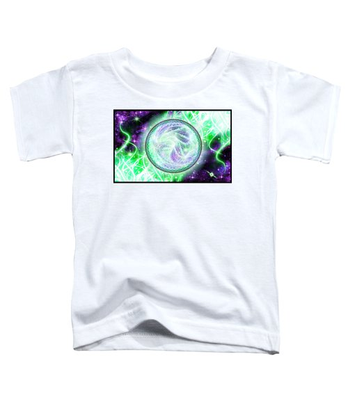Toddler T-Shirt featuring the digital art Cosmic Lifestream by Shawn Dall
