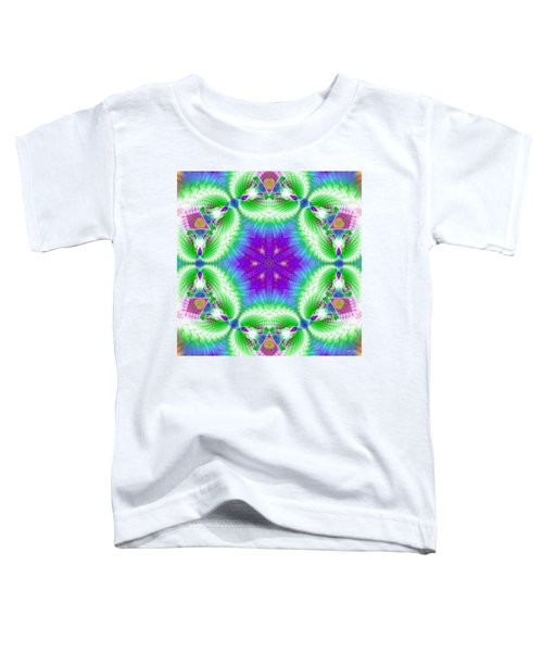 Cosmic Spiral Kaleidoscope 10 Toddler T-Shirt
