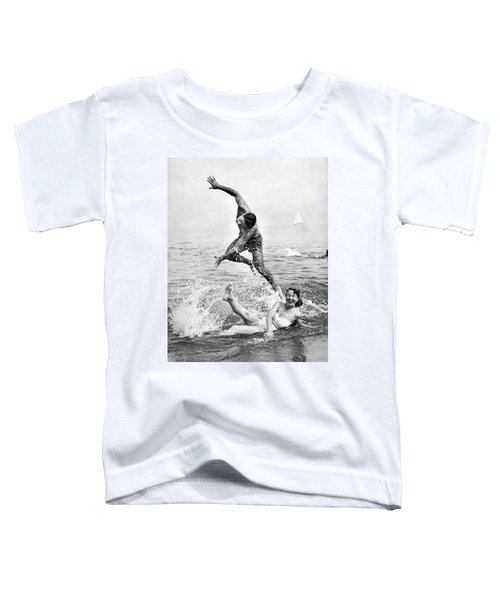 Couple Frolics In The Surf Toddler T-Shirt