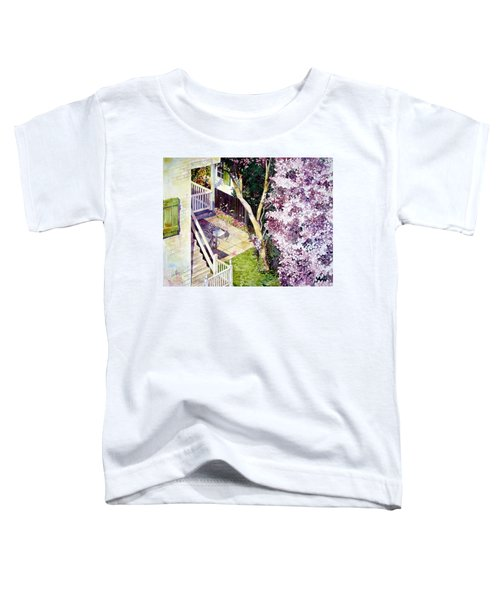 Courtyard With Cherry Blossoms Toddler T-Shirt