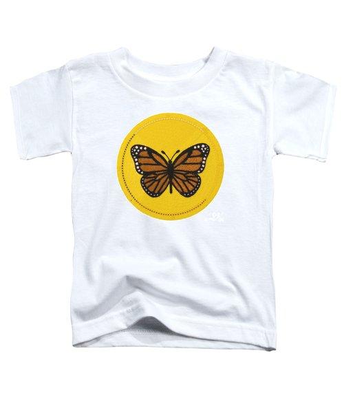 Cradleboard Beadwork Spring Butterfly Toddler T-Shirt