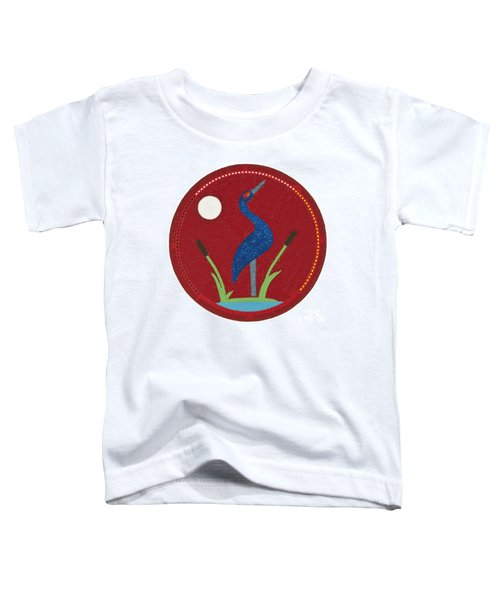 Cradleboard Beadwork Summer Crane Toddler T-Shirt