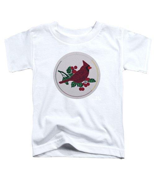 Cradleboard Beadwork Winter Cardinal Toddler T-Shirt
