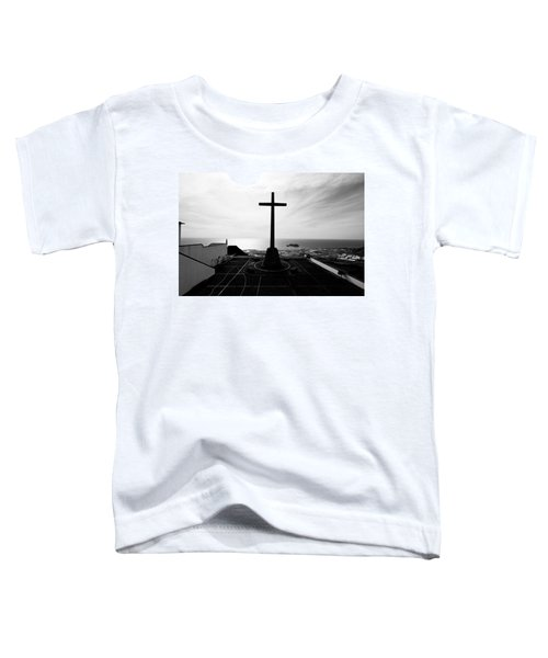 Cross Atop Old Chapel In Village  Toddler T-Shirt