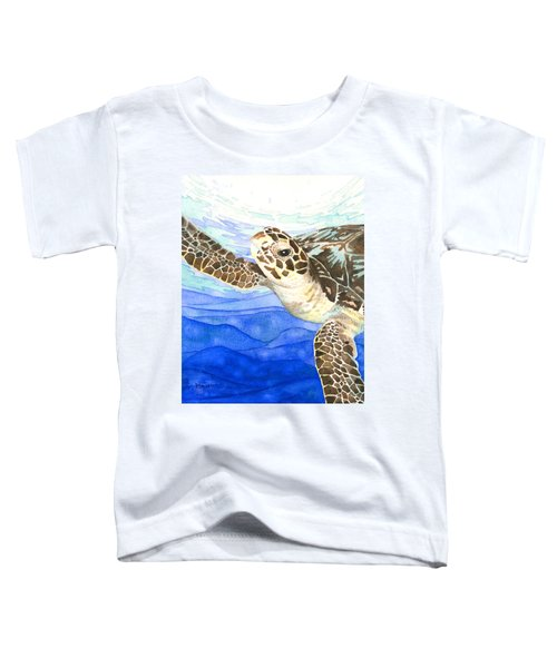Curious Sea Turtle Toddler T-Shirt