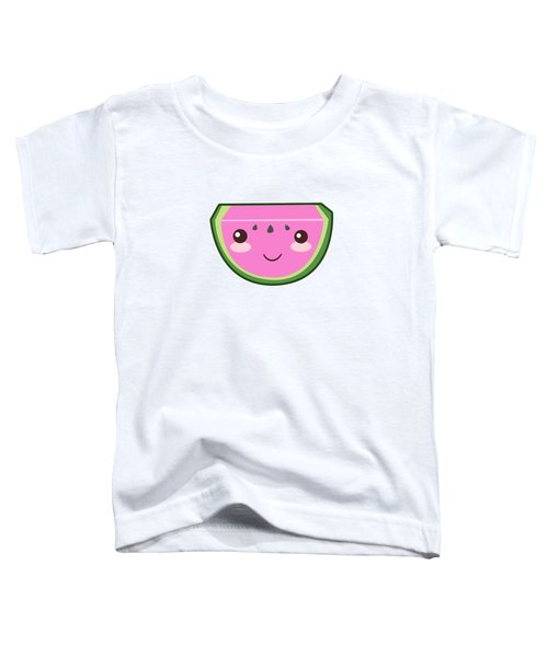 Cute Watermelon Illustration Toddler T-Shirt by Pati Photography