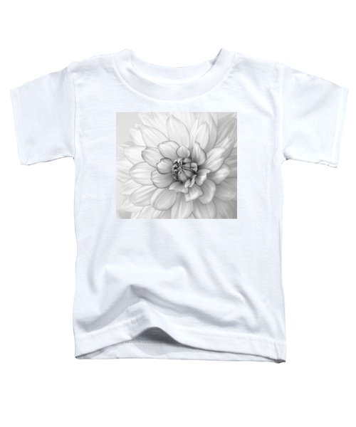 Dahlia Flower Black And White Toddler T-Shirt