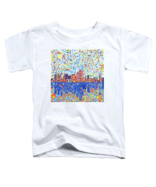 Dallas Skyline Abstract 5 Toddler T-Shirt
