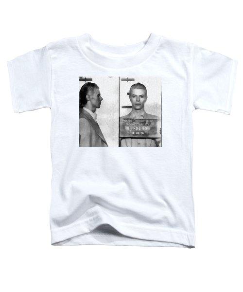 David Bowie Mug Shot Toddler T-Shirt