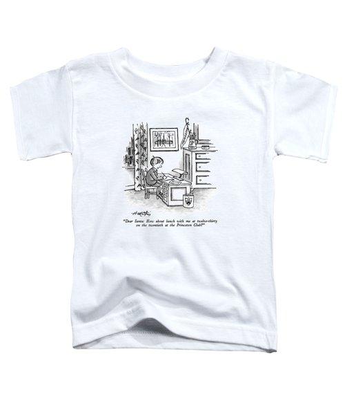 Dear Santa: How About Lunch Toddler T-Shirt