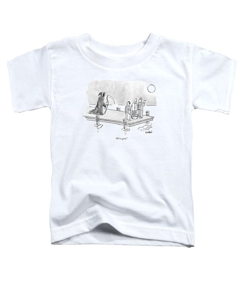 Death Approaches Two Mobsters Threatening A Man Toddler T-Shirt