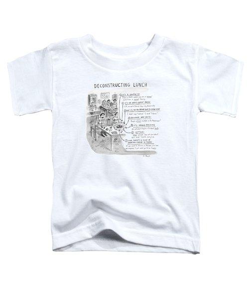 Deconstructing Lunch Toddler T-Shirt