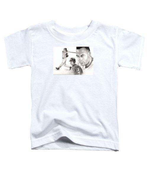 Derek Jeter Toddler T-Shirt by Kathleen Kelly Thompson