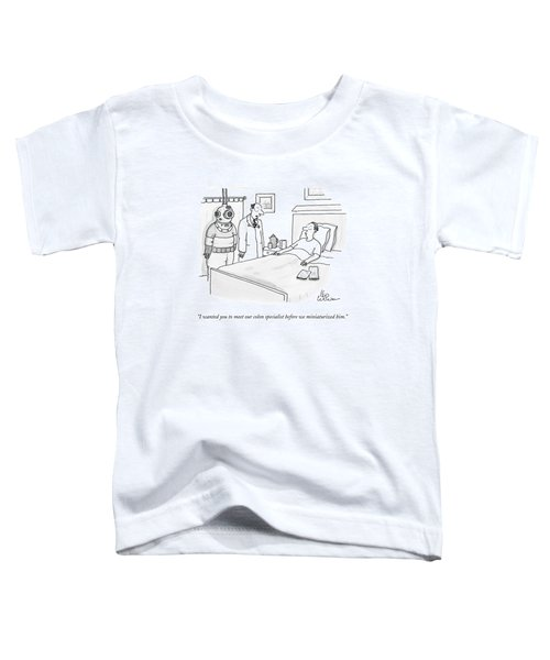 Doctor Speaks To Patient. A Scuba Diver Stands Toddler T-Shirt