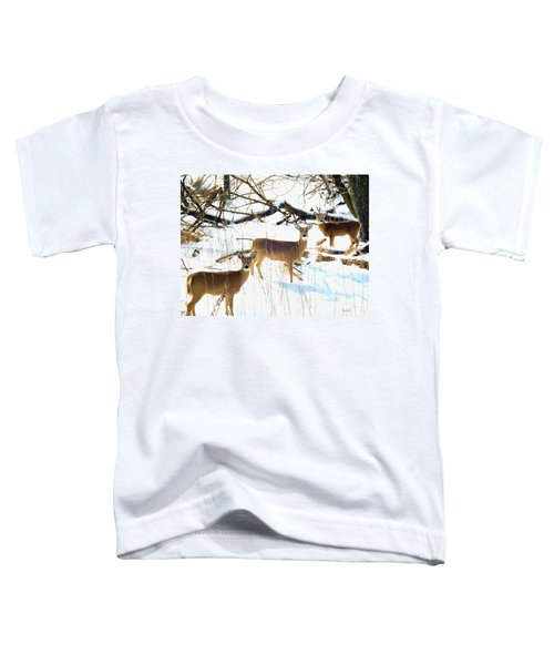 Does In The Snow Toddler T-Shirt
