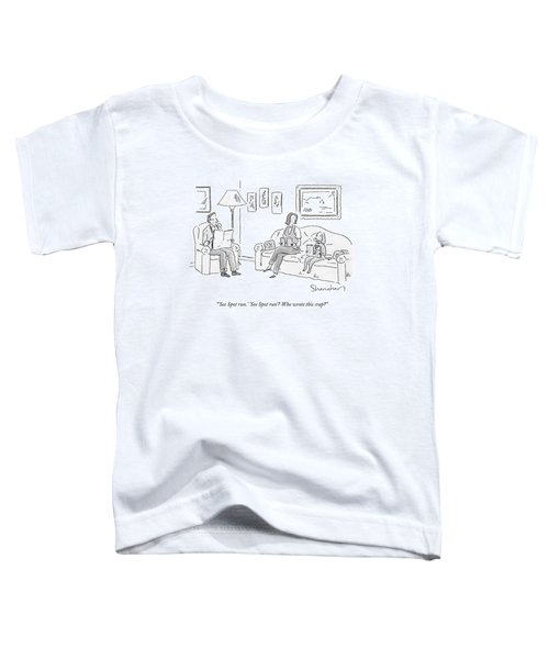 Dog Sitting On Couch Reading A Book Toddler T-Shirt