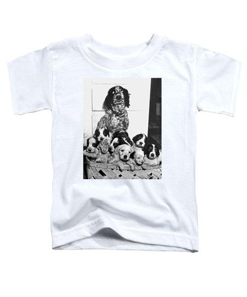 Dog With Twelve Puppies Toddler T-Shirt