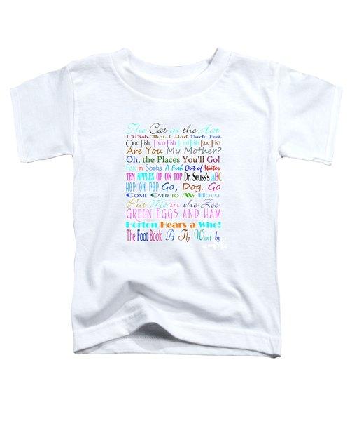 Dr Seuss Books 3 Toddler T-Shirt