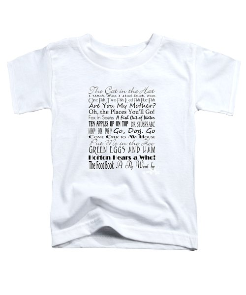 Dr Seuss Books 4 Toddler T-Shirt