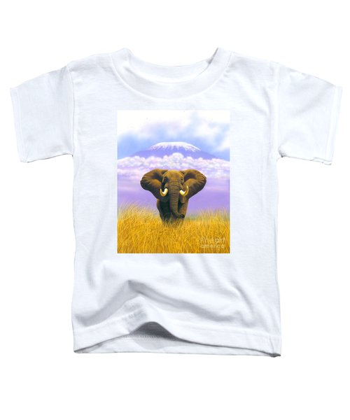 Elephant At Table Mountain Toddler T-Shirt