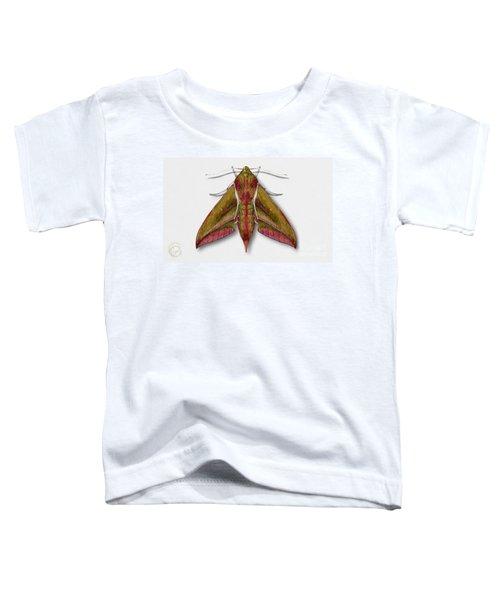 Elephant Hawk Moth Butterfly - Deilephila Elpenor Naturalistic Painting - Nettersheim Eifel Toddler T-Shirt