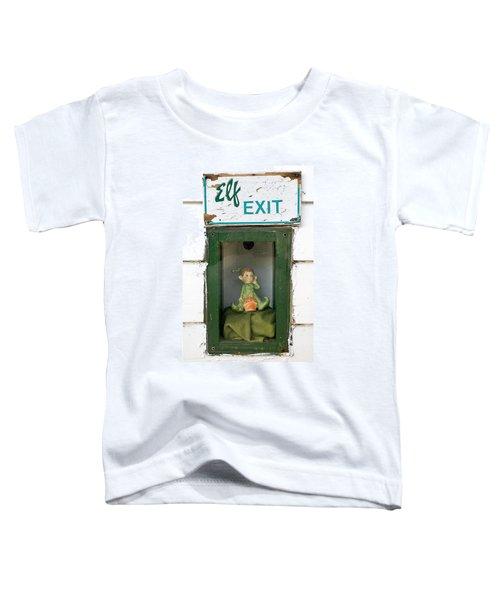 elf exit, Dubuque, Iowa Toddler T-Shirt