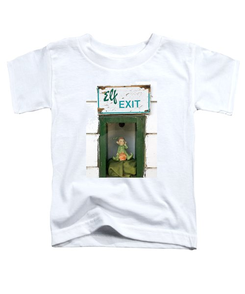 elf exit, Dubuque, Iowa Toddler T-Shirt