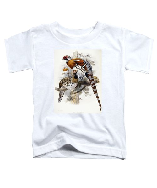 Elliot's Pheasant Toddler T-Shirt by Joseph Wolf