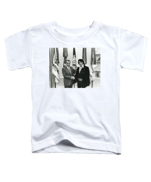 Elvis And Nixon Toddler T-Shirt