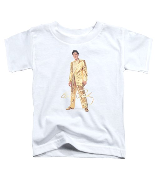 Elvis - Gold Lame Suit Toddler T-Shirt by Brand A