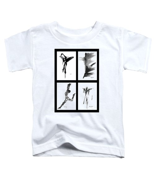 Emotions In Black - Abstract Quad Toddler T-Shirt