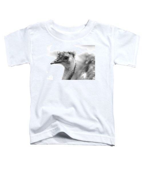 Emu - Black And White Toddler T-Shirt by Carol Groenen