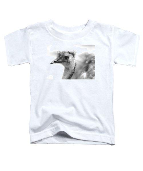 Emu - Black And White Toddler T-Shirt by Carol Groenen