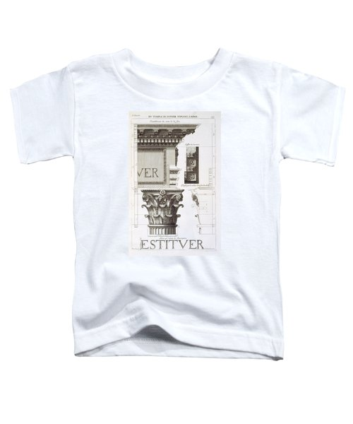 Entablature, Capital And Inscription Toddler T-Shirt