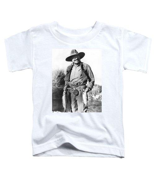 Ernest Hemingway Fishing Toddler T-Shirt