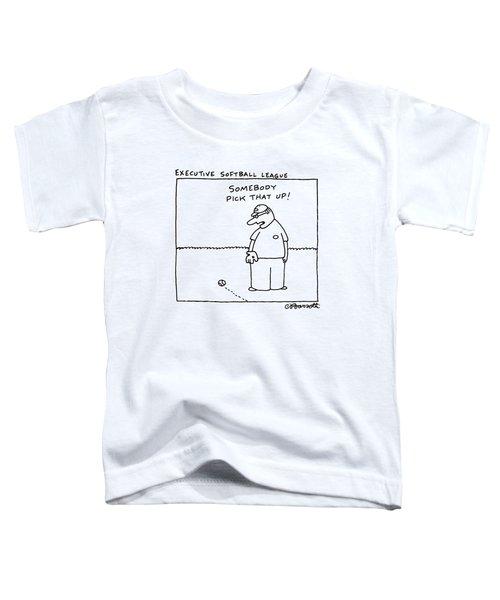 Executive Softball League Toddler T-Shirt by Charles Barsotti
