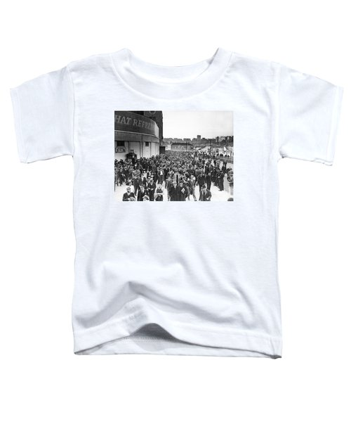 Fans Leaving Yankee Stadium. Toddler T-Shirt by Underwood Archives