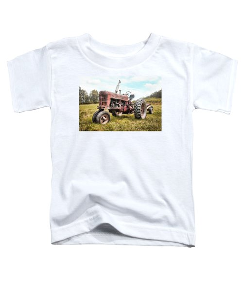 Farmall Tractor Dream - Farm Machinary - Industrial Decor Toddler T-Shirt