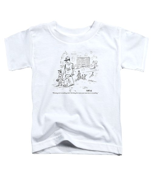 Father Speaks To Son As They Walk Hand In Hand Toddler T-Shirt
