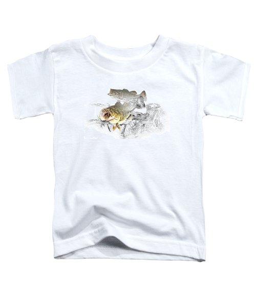 Feeding Largemouth Black Bass Toddler T-Shirt